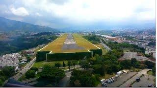 getlinkyoutube.com-Beautiful Landing at Pereira City - Colombia - Cockpit View [HD 1080p]