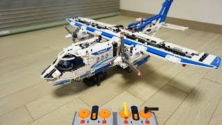 getlinkyoutube.com-LEGO Technic 42025 PF RC motorized Cargo Plane by 뿡대디