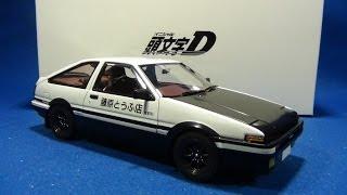 getlinkyoutube.com-AUTOart 1/18 トヨタ スプリンター トレノ (AE86) 「イニシャル D プロジェクトD・バージョン」