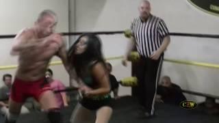 getlinkyoutube.com-CZW Dojo Wars IX: Brittany Blake vs. Irritating Igor INTERGENDER WRESTLING