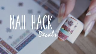 getlinkyoutube.com-DIY NAIL HACK | Nail Decals + Navajo Print Nails