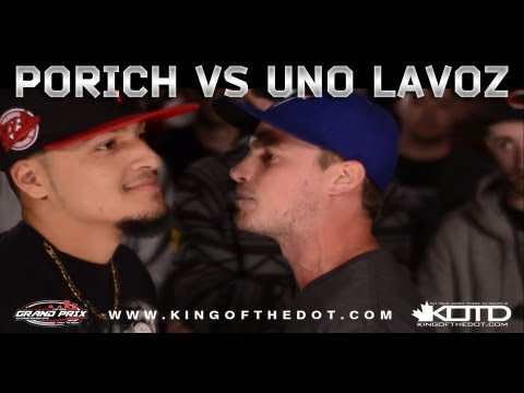 KOTD - Rap Battle - poRICH vs Uno Lavoz