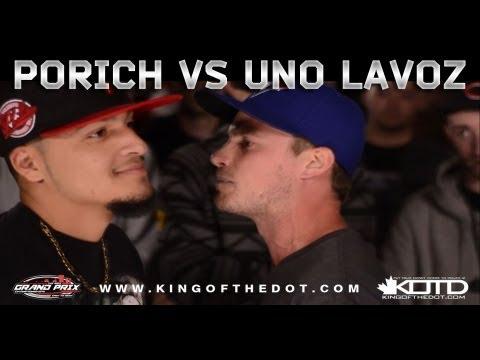 KOTD - Rap Battle - poRICH vs Uno Lavoz