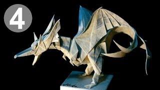 getlinkyoutube.com-Part4/4 : How to fold Origami Fiery Dragon ver.2 摺紙噴火飛龍第二版教學 (Kade Chan)