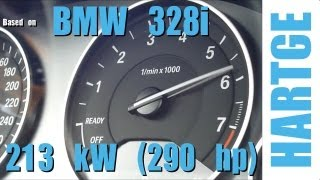 getlinkyoutube.com-BMW 328i F30 Test Drive with HARTGE Engine Upgrade 80 - 180 km/h