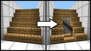 getlinkyoutube.com-Hidden Staircase Doorway! - Minecraft Tutorial