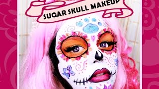 getlinkyoutube.com-DIA DE LOS MUERTOS | DAY OF THE DEAD | SUGAR SKULL MAKEUP TUTORIAL