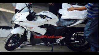 getlinkyoutube.com-Suzuki Gixxer SF 155 India white [ Spyshoot ]