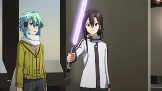 getlinkyoutube.com-Sword Art Online 2 - Kirito becomes a Jedi lightsaber scene