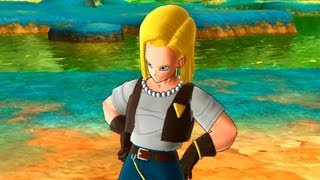getlinkyoutube.com-Dragonball Raging Blast 2 - All of Android 18's Special Opening Quotes