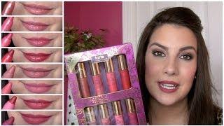 getlinkyoutube.com-Tarte Pure Delights LipSurgence Set Review