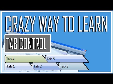 Visual Basic Beginner Lesson 10 - Working with TabControl (Crazy Tutorial)