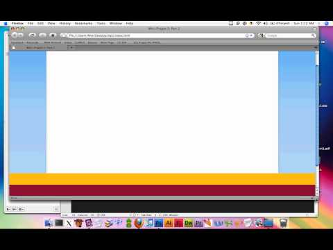 Web Design DeCal Fa10 Class Mini-Project 2 Part 2: .PSD to HTML and CSS - Part 2 of 3