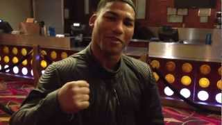 Gamboa wishes his team member Billy Dib Good Luck