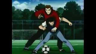getlinkyoutube.com-Captain Tsubasa-Super Campeones  La defensa del Barcelona