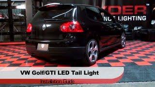 getlinkyoutube.com-Spyder Auto Installation: 2006-09 Volkswagen Golf/GTI Mk V LED Light Tube Tail Lights