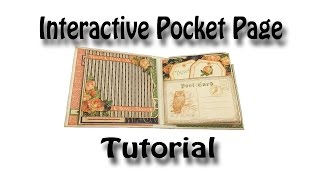 getlinkyoutube.com-Interactive Pocket Page Tutorial used for my Eerie Tale & Romance Novel Mini Albums