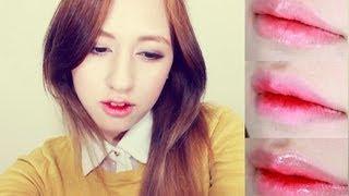 getlinkyoutube.com-Korean Ulzzang Gradient Lips 3 Ways Tutorial