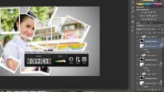 การสร้างกรอบรูปภาพ (Create a collage - Photoshop CS6)