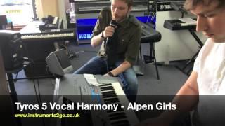 getlinkyoutube.com-Yamaha Tyros5 Vocal Harmony Example Demo