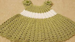 getlinkyoutube.com-👭Vestidito en crochet( ganchillo )fácil para niña 👭