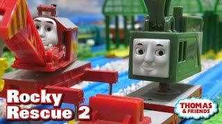 "getlinkyoutube.com-Thomas and friends ""Rocky Rescue 2"" トーマス プラレール ガチャガチャ ロッキーきゅうしゅつさくせん2"