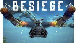 getlinkyoutube.com-Besiege Best Creations - Skiing Gone Wrong, Mountain Climbing Walker & More! - Besiege Highlights
