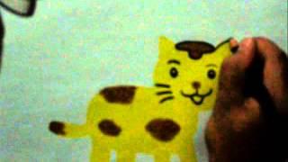 getlinkyoutube.com-Teknik Menggambar Kucing dengan Crayon