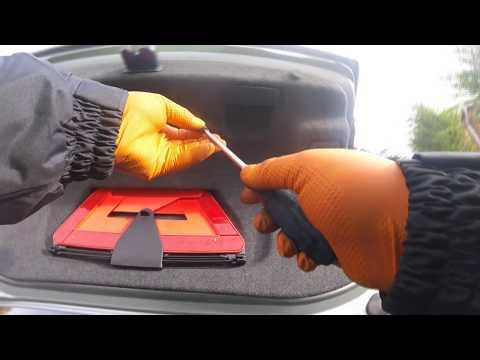 How to remove the rear trunk trim of an Audi A4 снять заднюю обшивку багажника Audi A4