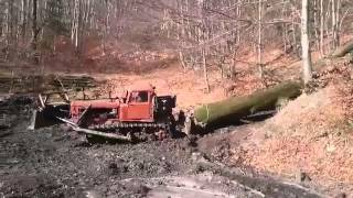 getlinkyoutube.com-DT 75,ťažba dreva Koš, logging