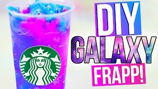 getlinkyoutube.com-DIY GALAXY STARBUCKS   Vanilla Bean Frapp