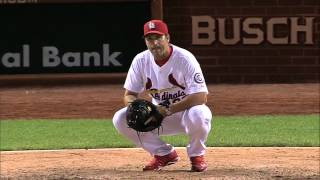 getlinkyoutube.com-2013/08/24 Matheny warms up Wainwright