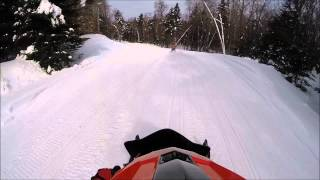 getlinkyoutube.com-Snowmobiling in Old Forge New York 2-18-2015