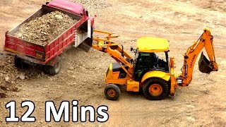 getlinkyoutube.com-Construction Vehicles - Truck Videos For Kids, Toy truck, Heavy Equipment Monster Truck Videos
