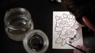 getlinkyoutube.com-Spit Shading Lesson - Tutorial & Speed Drawing of Tattoo Flash Roses