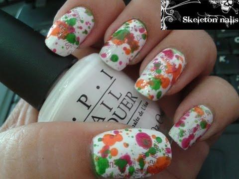 Manicura facil de salpicaduras/ Easy Splatter manicure