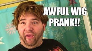 getlinkyoutube.com-HEEL WIFE WIG PRANK to Cover Embarrassing Husbands MOHAWK!