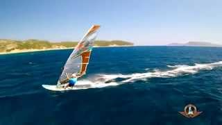 Windsurfing Finikounda - Close-Up-Action with a Drone