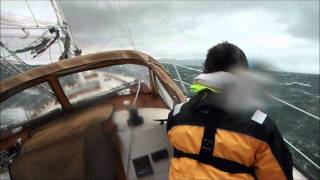 getlinkyoutube.com-high wind sailing knockdown extreme squall intense heeling sailboat wet wild 11/11/11