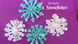getlinkyoutube.com-How to make a 3D paper snowflake step by step || fluffy snowflake
