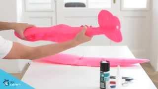getlinkyoutube.com-3D printed pink RC Spitfire Mk XVI, flies very well !!!
