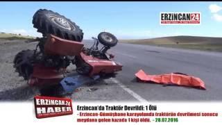 Erzincan'da Devrilen Traktörün Sürücüsü Hayatını Kaybetti