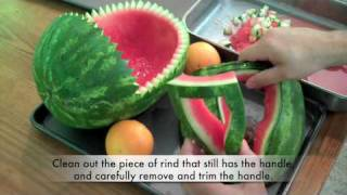 getlinkyoutube.com-How To Carve A Watermelon Baby Carriage