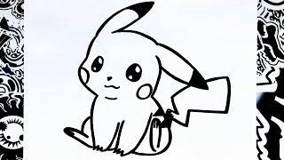 como dibujar a pikachu | how to draw pikachu