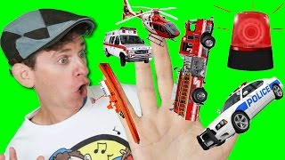 getlinkyoutube.com-Finger Family Song - Emergency Vehicles with Matt | Action Song, Nursery Rhyme | Learn English Kids