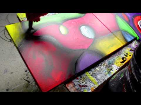 Abstract Art Lessons, Free Painting Videos - Linaria - by John Beckley