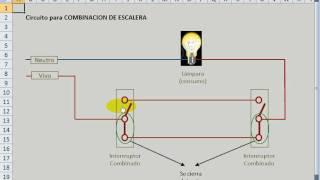 getlinkyoutube.com-Circuito combinacion de escalera o pasillo