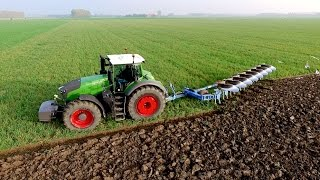 getlinkyoutube.com-Fendt 1050 vario + 8 furrow Lemken Diamant 11 On-Land Plough | KMWP Ploegen / Pflügen