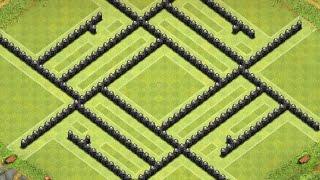 getlinkyoutube.com-Clash Of Clans - Townhall 9 Best War Base (4 Mortars)