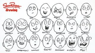 How to draw 20 different emotions